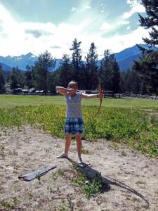 Activities -Nicole with archery 1