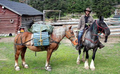 Wilderness Skill Training-Leading packhorse
