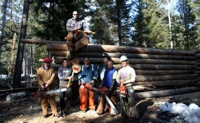 Wilderness Skill Training-Log cabin building