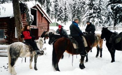 ESL Winter Program-Winter horse riding